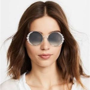 Fendi Non-Polarized Crystals Grey Round Sunglasses